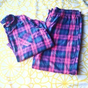 Victoria's Secret Plaid Pajama Set Size XL